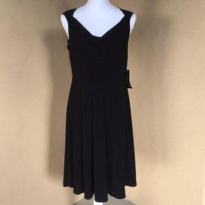 NWT!{Black Label by Evan-Picone} Sz 8 Blk Dress